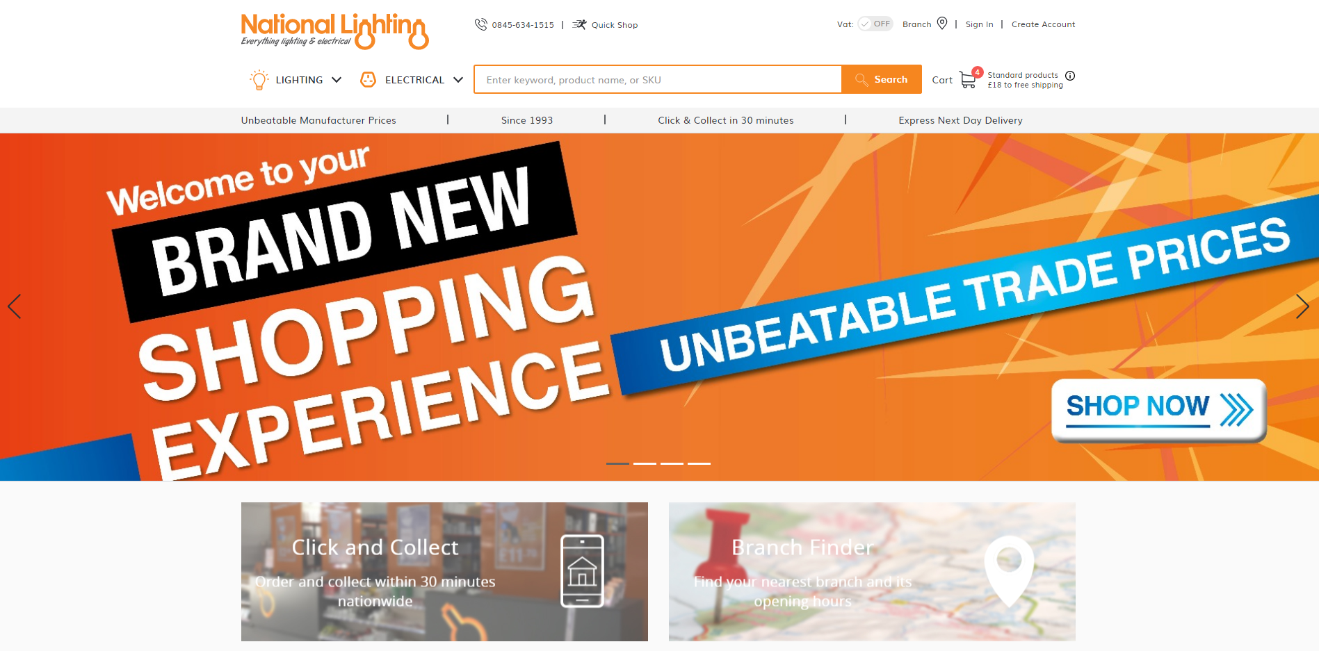 National Lighting launches brand new webstore
